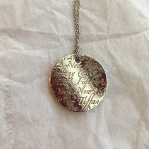 Retired Tiffany notes pendant necklace!